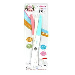 Dirt BYE Cleaning Tool - White Pink and Sky Blue