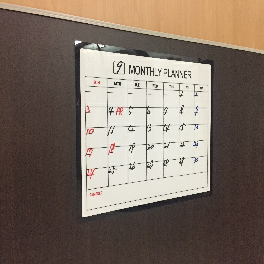 Sticky White Board monthly schedule