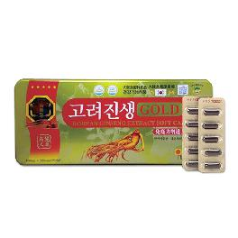 Korean Ginseng Extract Gold Soft Capsule