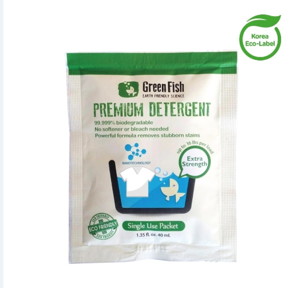 Green Fish Premium Single Use Packets detergent