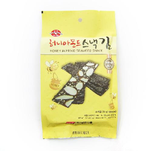 Honey Almond Snack Laver | laver snack,seaweed snack,almond snack