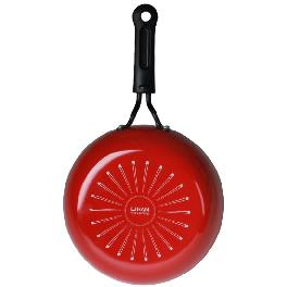 22cm comfortable frying pan -RED