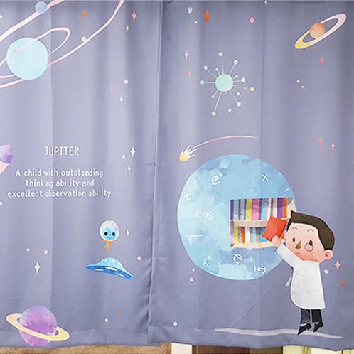 Character design Star Nine Curtain | SENSE-I,STAR9,Start nine,Curtain,planet,character,black-out,child curtain