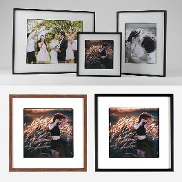 Simplicity Photo Frame Brown Black