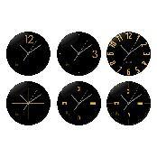 Wall Clock Gold Black Line
