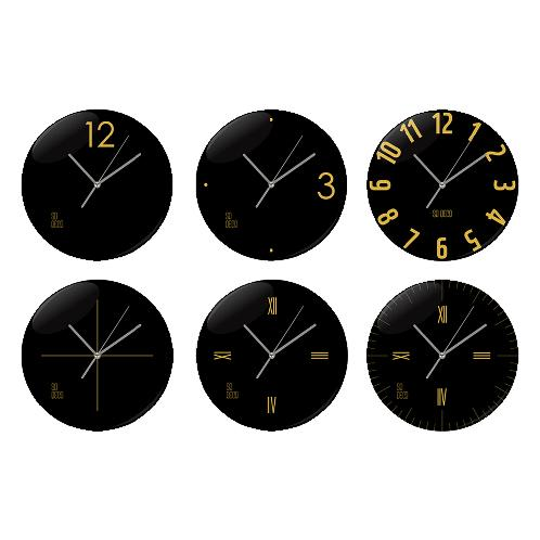 Wall Clock Gold Black Line | Acryl Clock, Acryl Vacuum compression, clock