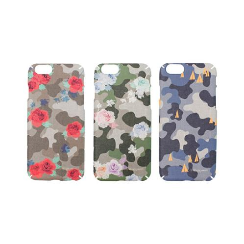 (INH) Camou Flower Case | [Happymori ,Camou Flower Case, Fashion ,illust Casing Flip Case ,Cover ,iPhone