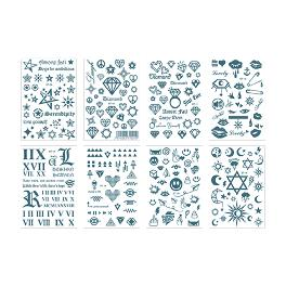 Stylish Tattoo 8 Type Stickers Art Fashion