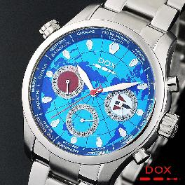 Brand Casual Watch Mens Chronograph Stainless Steel Case Band Japan Movement DOX Made in Korea