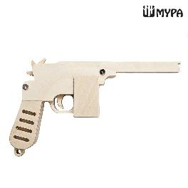 DIY Wooden Rubber Band Shooting Gun 10-Shot Wood Toy Gift for Kids and Adults MYPA GUN - PMA20