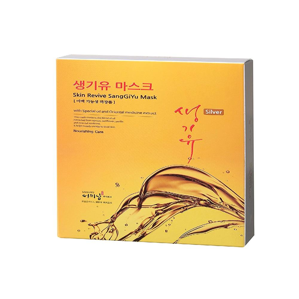 Skin Revive SangGiYu Mask Silver 25g Pack of 10 - Traditional Oriental Moisturizing Facial Skin Care