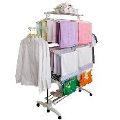 White Eden Double Olime Laundry Rack 8 stage