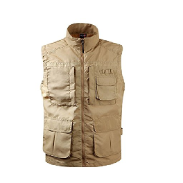 Nyfashioncity Mens Casual Multi Pockets Travel Fishing Hunting Work Outdoor Vest 10R