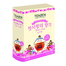 TEAZEN Korean Modern Single Serve First Love Cute Design Tea Bags, 9g