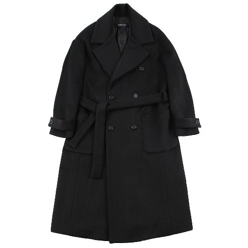 WOOL OVER ROBE COAT BLACK | COAT,MAXI COAT,ROBE COAT