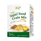 TEAZEN Super Food Mix, Grain Flavors OAts, Quinoa, Lentil Beans Food Mixer, 126g (18g x 7)