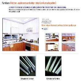 Made in Korea aluminum furniture Product_Kitchen, Washroom and other Living furniture altogether alu