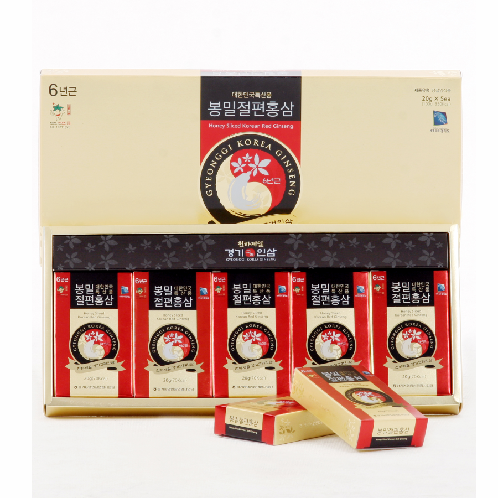 Honey Sliced Korean Red Ginseng(20g*5ea) | Red Ginseng,Health Food,ginseng,sliced ginseng,korean Ginseng,honey ginseng