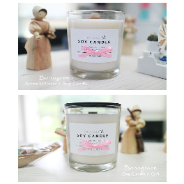 bonogreen soy candle_white