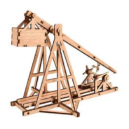 Wooden Model Kit Trebuchet by Young Modeler