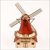 Wooden Model Kit Dutch windmill by Young Modeler