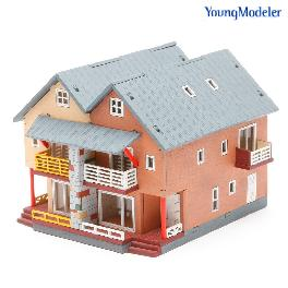 Desktop Wooden Assembly Model Kits (Duplex House)