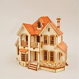 Wooden Model Kit Garden House C by Young Modeler