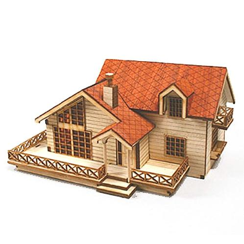 Wooden Model Kit Garden House B With a Large Loft by Young Modeler | Wooden,Kit,House