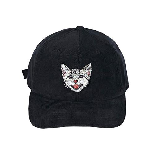KOREAN SHORTHAIR CORDUROY BALLCAP | ball cap, embroidery, corduroy