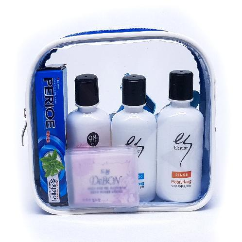 Shampoo, Hair Conditioner, Body Cleanser, Soap, Toothbrush, Toothpaste, Razor # Basic 102 | Shampoo, Conditioner, Body Cleanser