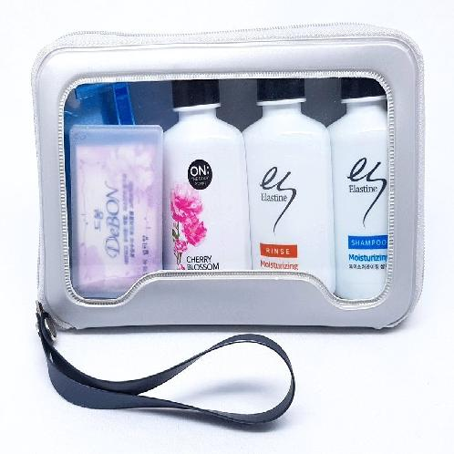 Shampoo, Hair Conditioner, Body Cleanser, Soap, Toothbrush, Toothpaste, Razor # Premium | Shampoo, Soap, Conditioner