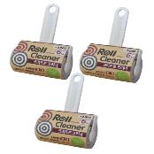 3 Pack -Tape Roll Cleaner for Cloth, 10cm x 6M Sticky Roller, Kraft Paper