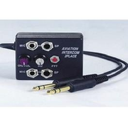 2 Place Aviation Intercom for General Aviation,with external PTT