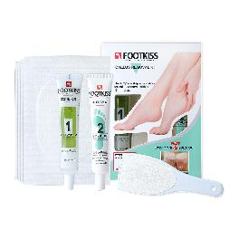 FOOTKISS Foot Callus Removal Home Kit Gel Patch Scraper 8pc