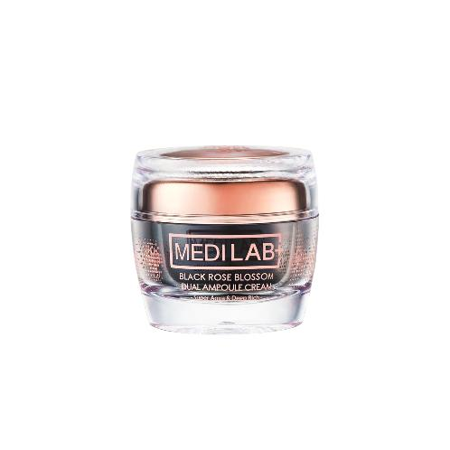[MEDI LAB] BLACK ROSE BLOSSOM DUAL AMPOULE CREAM | Natural, restoring, repairing, face, facial, care, skin, clear, flawless, clean oily, hydrating, men