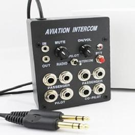 Aviation headset Intercom for flight operation 4 Place Intercom,( PJ Plug)