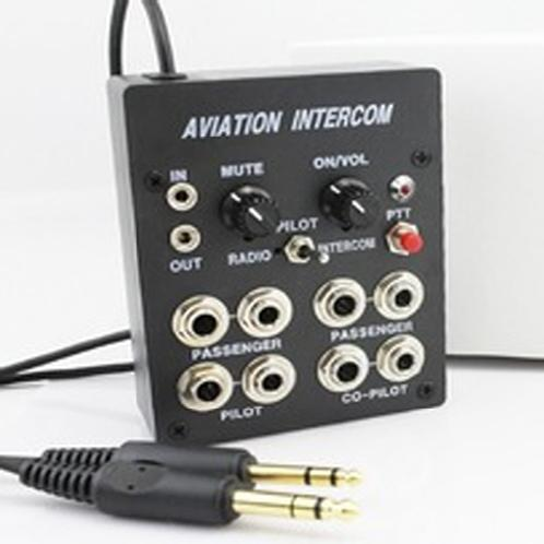 Aviation headset Intercom for flight operation 4 Place Intercom,( PJ Plug) | Aviation headset Intercom for flight operation 4 Place Intercom,( PJ Plug)