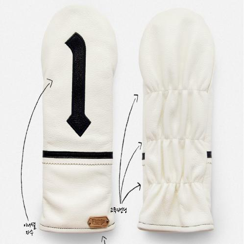 Golf Wedge Cover, Natural Leather, # Driver Cover 140x360mm - Ivory | Golf,  Wedge Cover, Leather