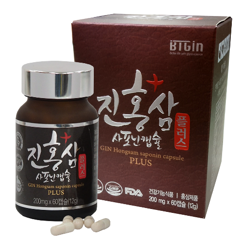 BTGIN Korean Gin Red Ginseng Saponin Capsule Plus | red ginseng capsule vitamin rg3 compoundK 6yearroots