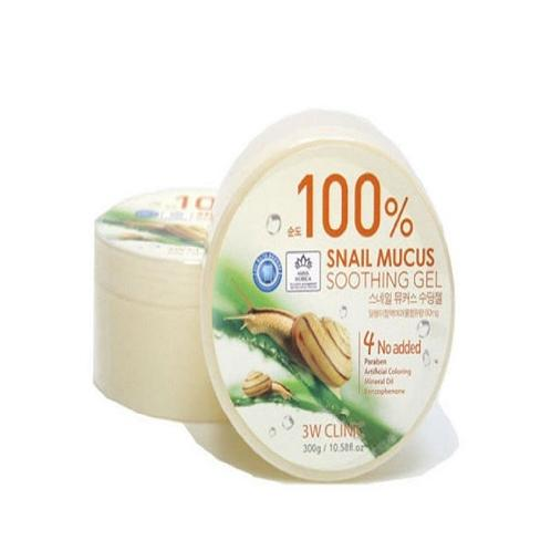 3W Clinic 100% Snail Mucus Soothing Gel | MOISTURIZER, CREAM, KR BEAUTY