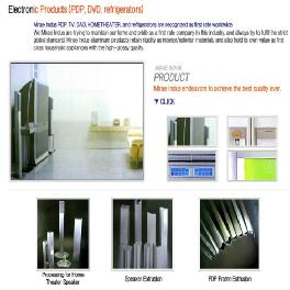 Korean's aluminum Electronic Product_PDP aluminum Products