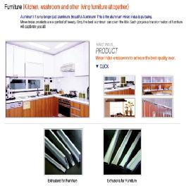 Korean's aluminum furniture Product_Kitchen, Washroom and other Living furniture altogether aluminum