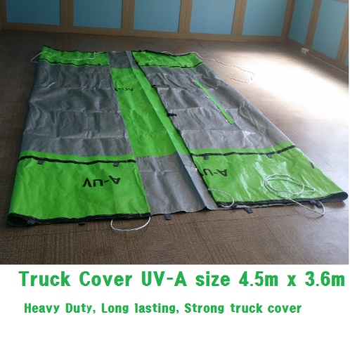 4.5MX3.6M, 235gs, Green/Silver | High performance heavy duty ready made type Truck cover