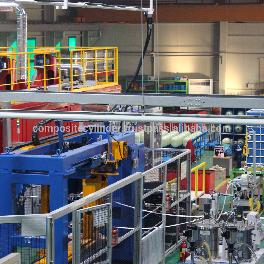 factory production line of wrapped fiberglass composite LPG gas cylinder production line composite c