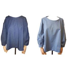 Female puff balloon blouse