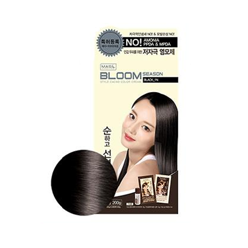 Bloom Season Style Cacao Color Cream Black 1N | beauty, hair cream, style color, bloom season