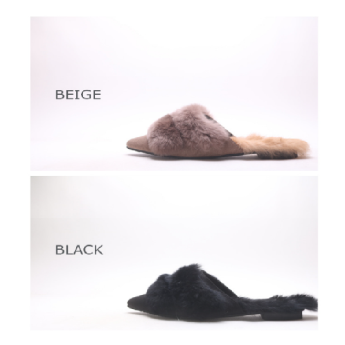 Villeb Rabbit Fur Slippers Blofers | shoes,loafers,flat