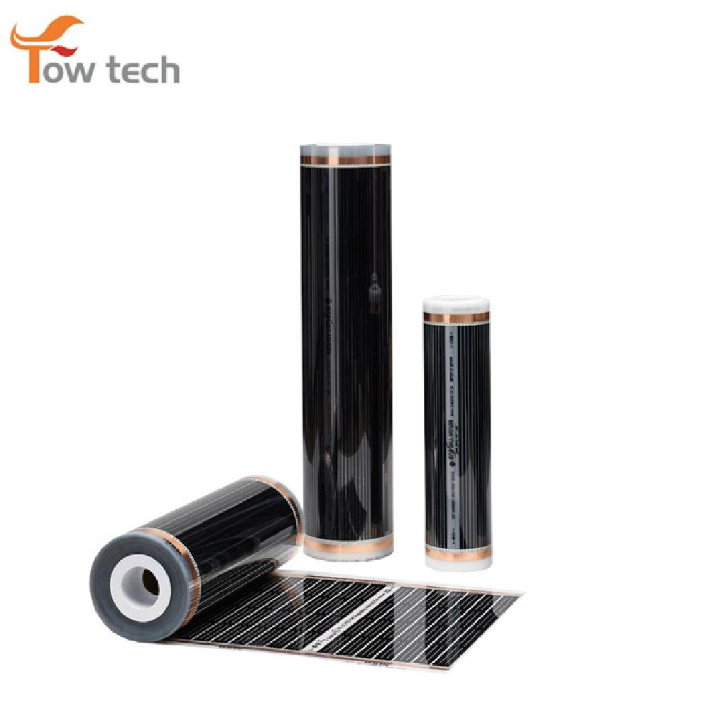 Good floor heating kit far infrared ray radiant electric underfloor transparent color ptc carbon hea