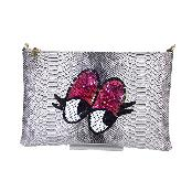Python Skin Spangle Clutch