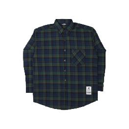 [FILLUMINATE] UNISEX Overfit Blaze Check Shirt